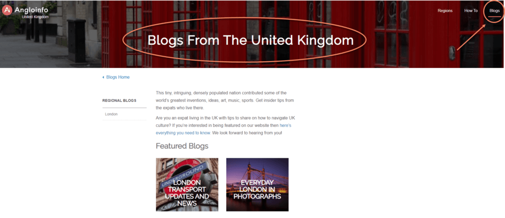 London blogs